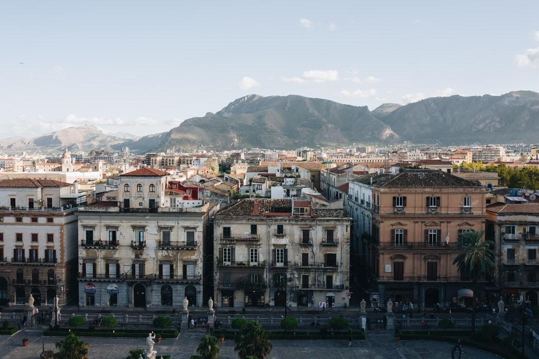 Vista dalla Cattedrale di Palermo